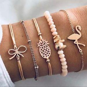 Round Stone Tassel Bracelet set 💛